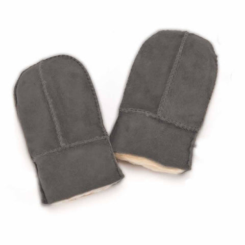 ECL Sheepskin Childrens Mittens Grey