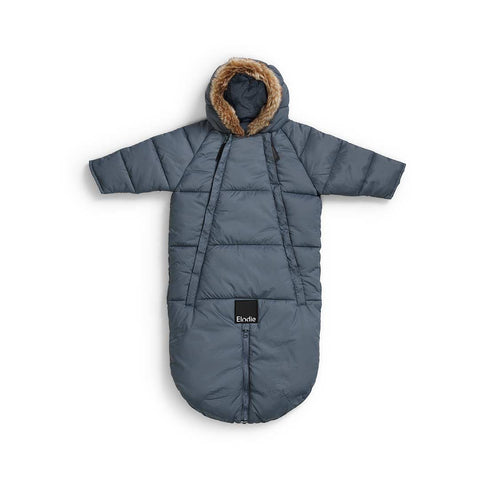 Elodie Details Baby Overall Pramsuit - Tender Blue-Coats & Snowsuits- Natural Baby Shower