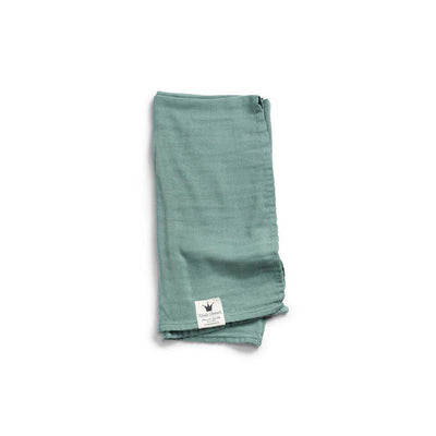 Elodie Details Bamboo Muslin Blanket - Mineral Green-Blankets-Default- Natural Baby Shower