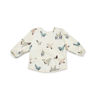 Elodie Details Long Sleeve Bib - Feathered Friends-Bibs-Feathered Friends- Natural Baby Shower