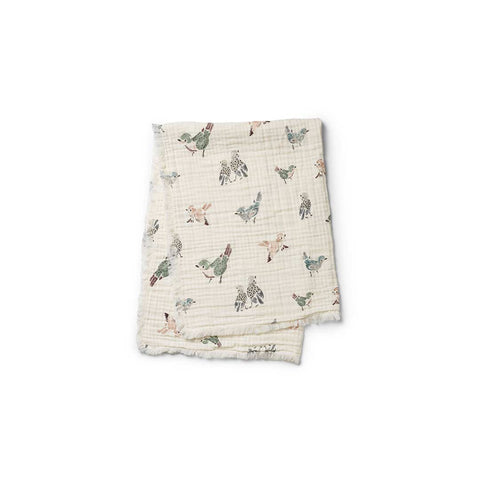 Elodie Details Soft Cotton Blanket - Feathered Friends-Blankets-Default- Natural Baby Shower