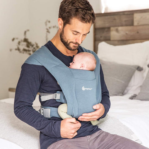 Ergobaby Embrace Baby Carrier - Oxford Blue-Baby Carriers- Natural Baby Shower