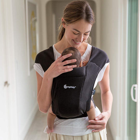 Ergobaby Embrace Baby Carrier - Pure Black-Baby Carriers- Natural Baby Shower