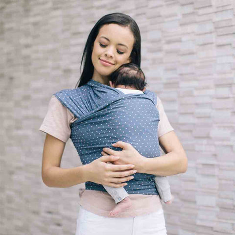 Ergobaby Lightweight Aura Baby Wrap - Coral Dots-Baby Carriers-Coral Dots- Natural Baby Shower