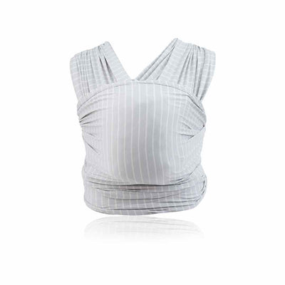 Ergobaby Lightweight Aura Baby Wrap - Grey Stripe-Baby Carriers-Grey Stripe- Natural Baby Shower