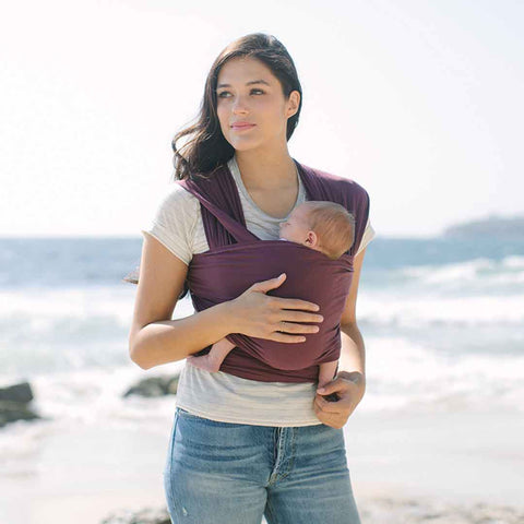 Ergobaby Lightweight Aura Baby Wrap - Wine-Baby Carriers-Wine- Natural Baby Shower