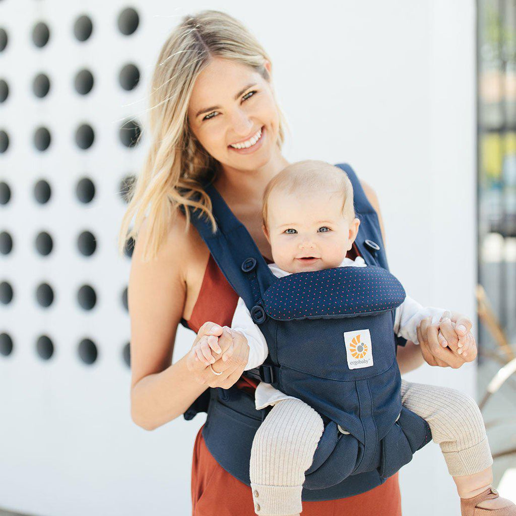 a183e099cfb ... Ergobaby Omni 360 Carrier - Navy Mini Dots-Baby Carriers-Navy Mini Dots-