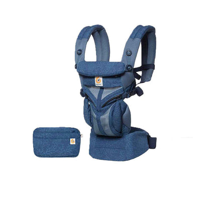 Ergobaby Omni 360 Cool Air Mesh Carrier - Blue Blooms-Baby Carriers- Natural Baby Shower