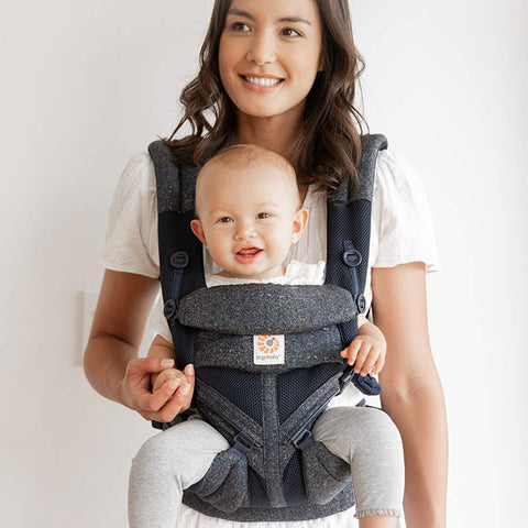 Ergobaby Omni 360 Cool Air Mesh Carrier - Blue Tweed-Baby Carriers- Natural Baby Shower