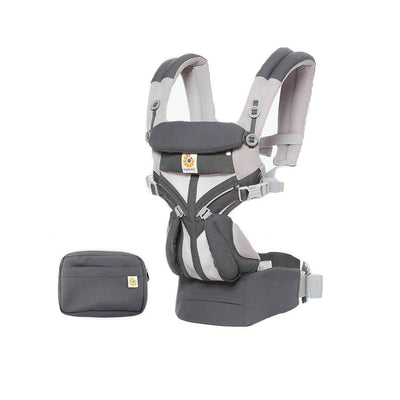 Ergobaby Omni 360 Cool Air Mesh Carrier - Carbon Grey-Baby Carriers- Natural Baby Shower