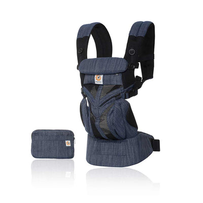 Ergobaby Omni 360 Cool Air Mesh Carrier - Indigo Weave-Baby Carriers- Natural Baby Shower