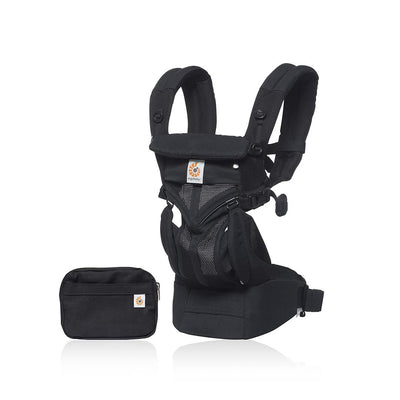 Ergobaby Omni 360 Cool Air Mesh Carrier - Onyx Black-Baby Carriers-Black- Natural Baby Shower
