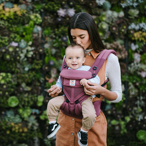 Ergobaby Omni 360 Cool Air Mesh Carrier - Plum-Baby Carriers- Natural Baby Shower