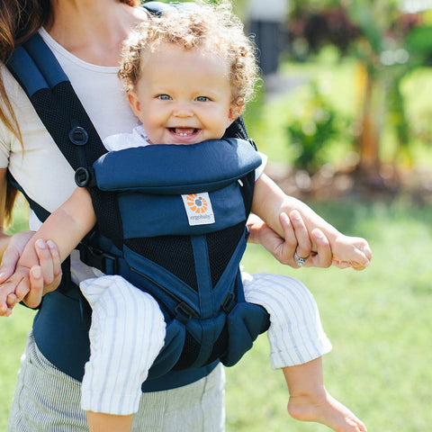 Ergobaby Omni 360 Cool Air Mesh Carrier - Raven-Baby Carriers-Raven- Natural Baby Shower