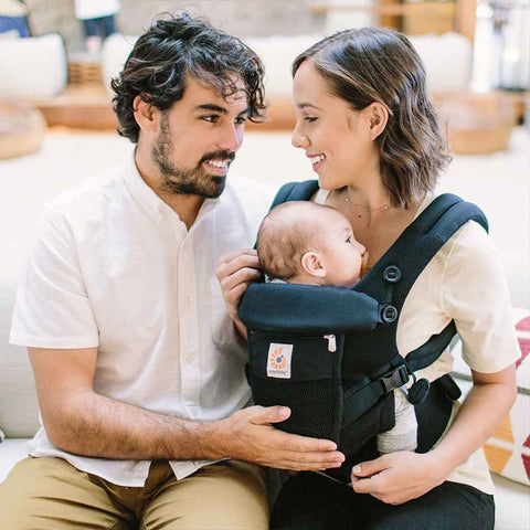 Ergobaby Original Adapt Cool Mesh Carrier - Onyx Black-Baby Carriers-Onyx Black- Natural Baby Shower