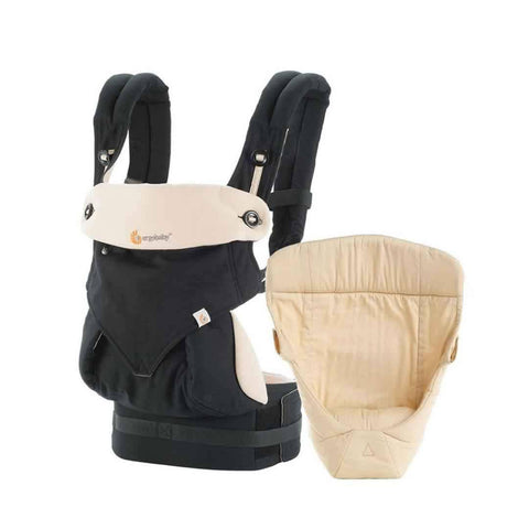 Ergobaby 360 Bundle of Joy Carrier + Snug Infant Insert - Black/Camel - Baby Carriers - Natural Baby Shower