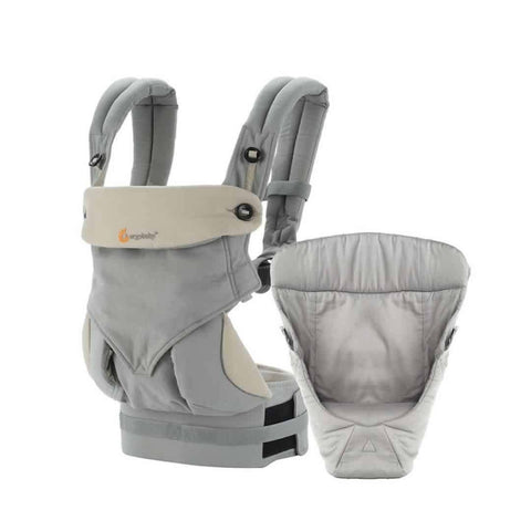 Ergobaby 360 Bundle of Joy Carrier + Snug Infant Insert - Grey - Baby Carriers - Natural Baby Shower