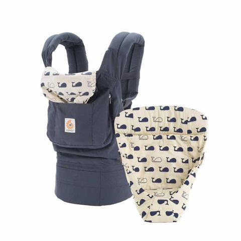 Ergobaby Bundle of Joy Carrier + Snug Infant Insert in Marine
