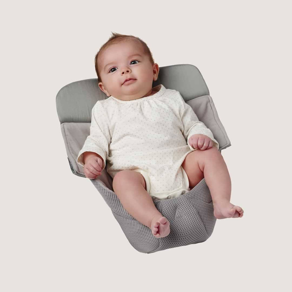Ergobaby Easy Snug Infant Insert - Performance Cool Mesh Grey Lifestyle
