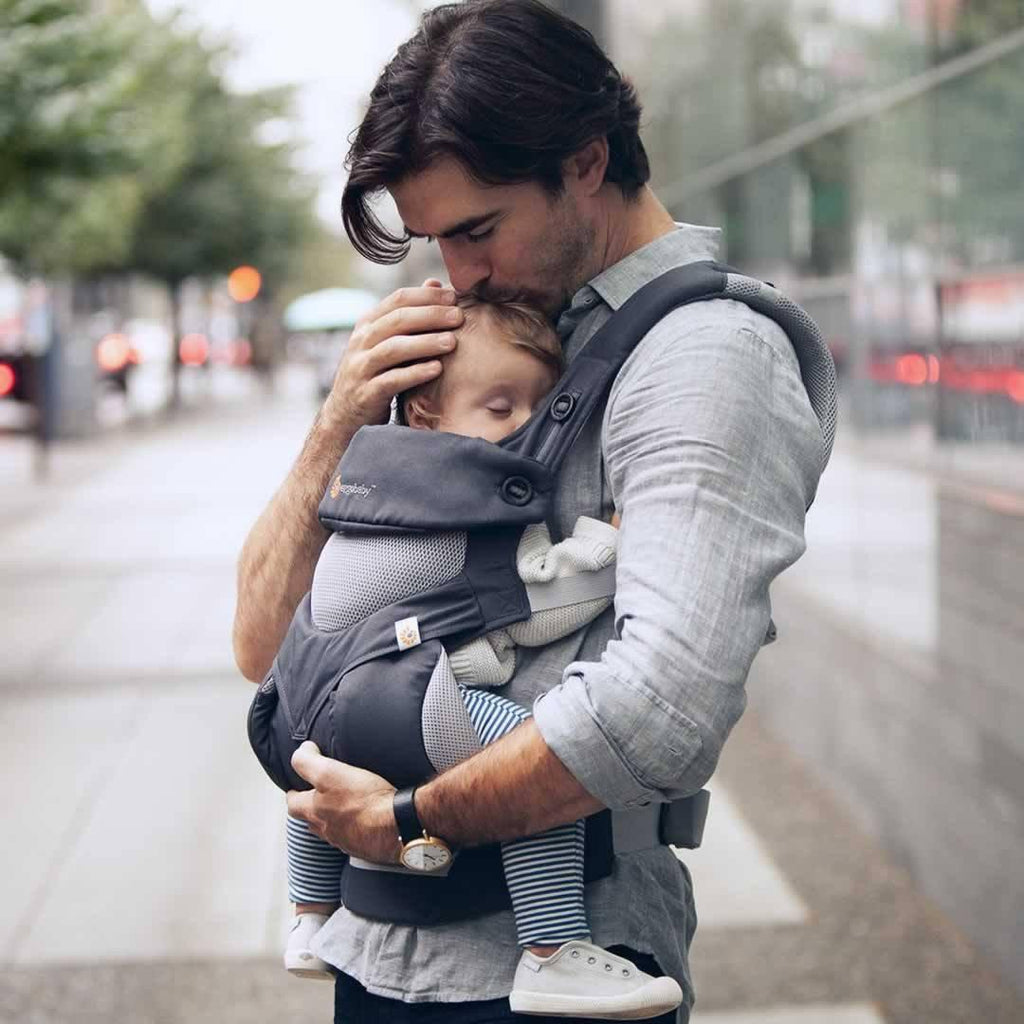 Ergobaby Four Position 360 Carrier - Performance Cool Air - Carbon Grey Lifestyle