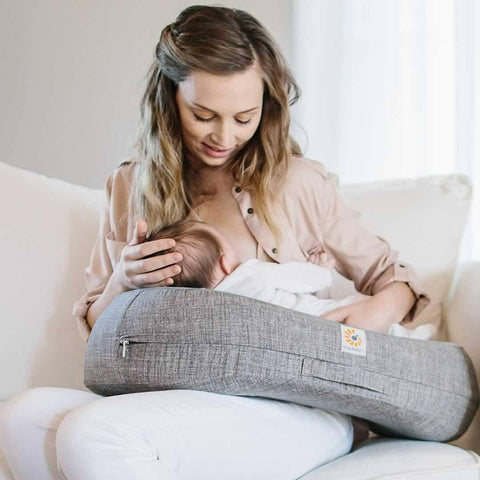 Ergobaby Natural Curve Nursing Pillow - Grey-Maternity Cushions-Grey- Natural Baby Shower