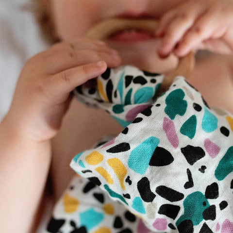 Etta Loves Teether - Terrazzo-Teethers-Terrazzo- Natural Baby Shower