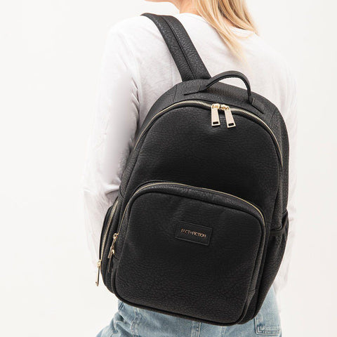 FACT + FICTION Lea Backpack - Black-Changing Bags- Natural Baby Shower