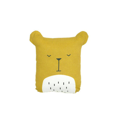 Fabelab Animal Cushion - Bear-Cushions- Natural Baby Shower