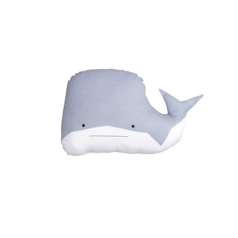 Fabelab Animal Cushion - Whale-Cushions- Natural Baby Shower
