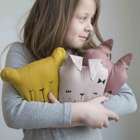 Fabelab Animal Cushion - Cat-Cushions- Natural Baby Shower