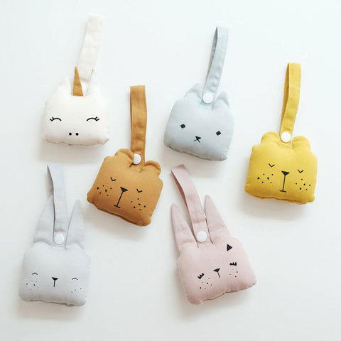 Fabelab Animal Rattle - Bunny - Ice Grey-Rattles- Natural Baby Shower