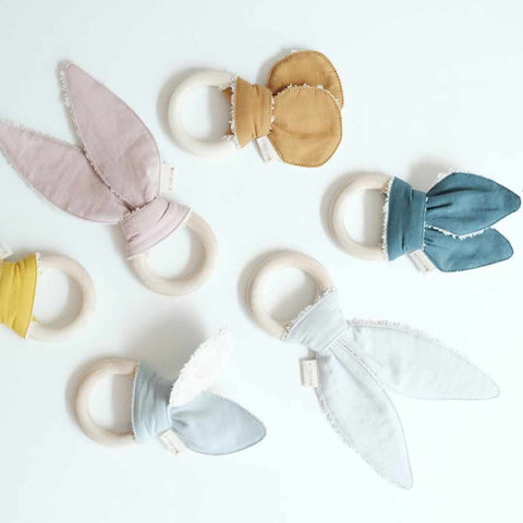 Fabelab Animal Teether - Bunny - Mauve-Teethers- Natural Baby Shower