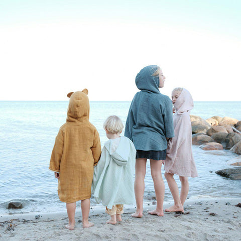Fabelab Bathrobe - Mauve-Towels & Robes- Natural Baby Shower