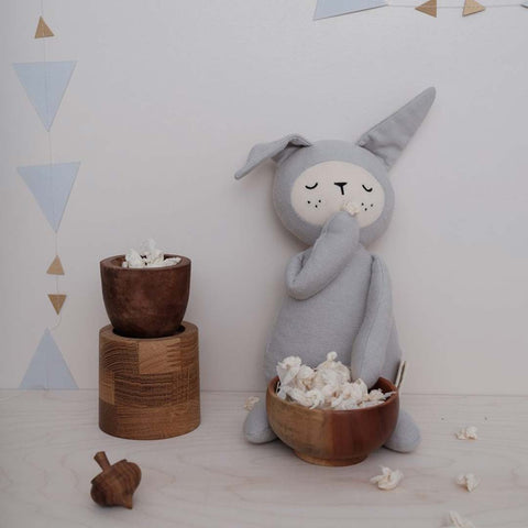 Fabelab Buddy - Bunny Light Grey-Soft Toys- Natural Baby Shower