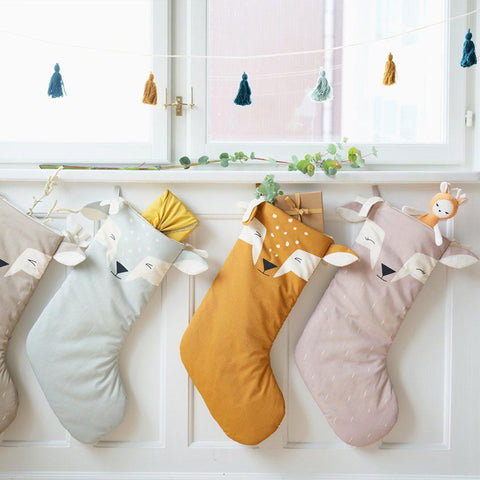 Fabelab Christmas Stocking - Lovely Deer-Nursery Accessories- Natural Baby Shower