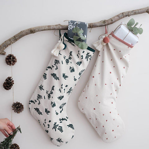 Fabelab Christmas Stocking - Evergreen-Nursery Accessories- Natural Baby Shower