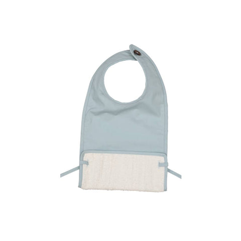 Fabelab Coated Bib - Foggy Blue-Bibs- Natural Baby Shower