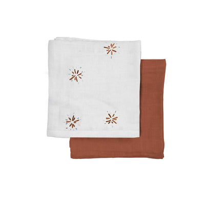 Fabelab Muslin Cloths - 2 Pack - Dandelions-Muslin Squares- Natural Baby Shower