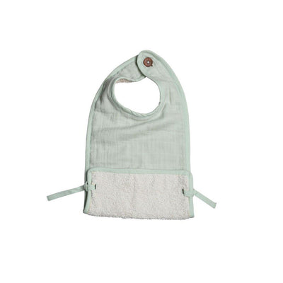 Fabelab Muslin Feeding Bib - Beachgrass-Bibs- Natural Baby Shower