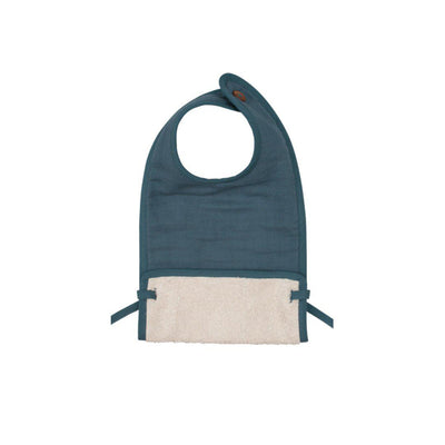 Fabelab Muslin Feeding Bib - Blue Spruce-Bibs- Natural Baby Shower