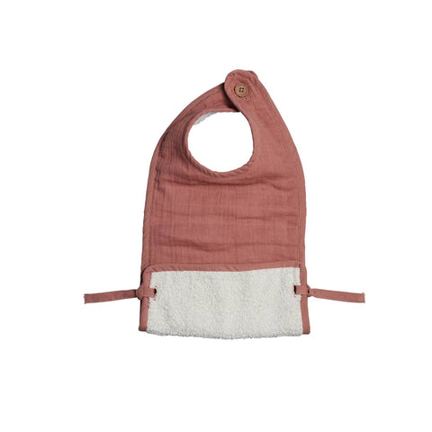 Fabelab Muslin Feeding Bib - Clay-Bibs- Natural Baby Shower