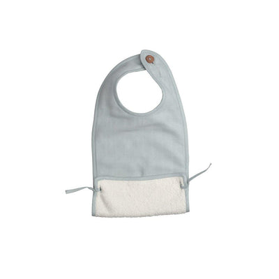 Fabelab Muslin Feeding Bib - Foggy Blue-Bibs- Natural Baby Shower