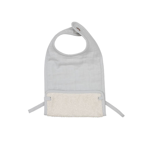 Fabelab Muslin Feeding Bib - Icy Grey-Bibs- Natural Baby Shower