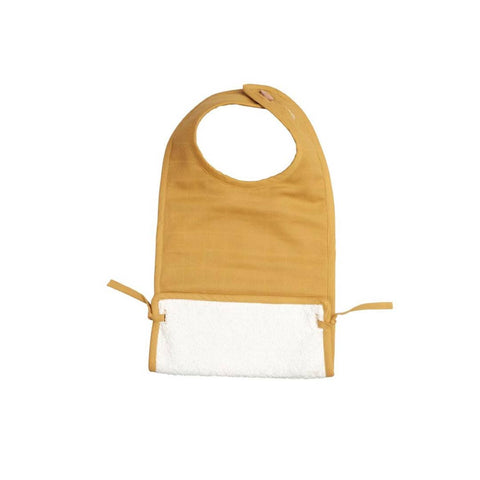 Fabelab Muslin Feeding Bib - Ochre-Bibs- Natural Baby Shower