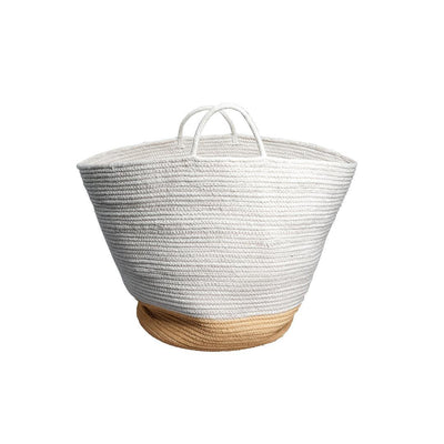 Fabelab Rope Basket - Large - Ochre-Storage- Natural Baby Shower