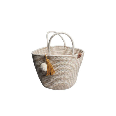 Fabelab Rope Basket - Small - Ochre-Storage- Natural Baby Shower