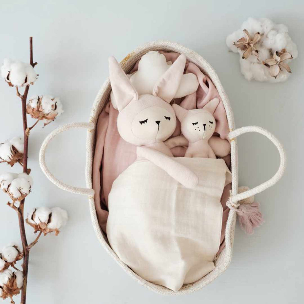 608fbc3a7c98ac ... Fabelab Rope Doll Basket - Mauve-Play Sets- Natural Baby Shower