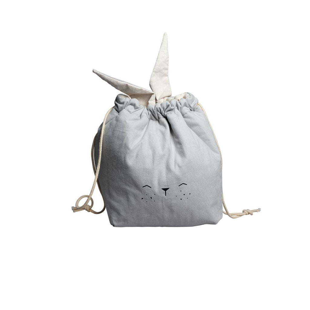 Fabelab Small Storage Bag - Bunny - Icy Grey-Storage- Natural Baby Shower