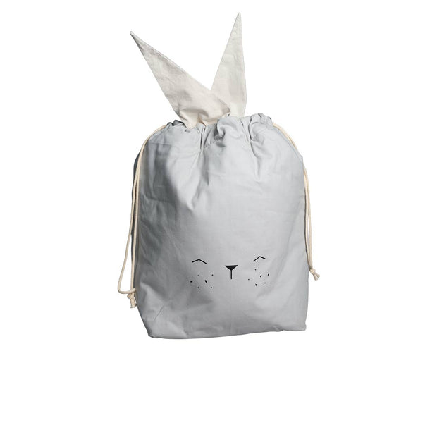Fabelab Storage Bag - Bunny - Icy Grey-Storage- Natural Baby Shower