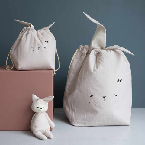 Fabelab Storage Bag - Bunny - Mauve-Storage- Natural Baby Shower